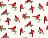 Winter Elegance - Cardinals Natural by Jackie Robinson from Benartex Fabrics
