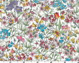 Meadow Edge - Small Packed Flower White from Maywood Studio Fabric