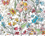 Meadow Edge - Large Meadow Flower White from Maywood Studio Fabric