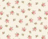 Peaceful Garden  - Small  Rose Bumble Toss Dots Cream from Henry Glass Fabric