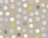 Simple Land DOUGLE GAUZE - Decorative Dots Tan from Cosmo Fabric