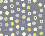 Simple Land DOUGLE GAUZE - Decorative Dots Grey from Cosmo Fabric