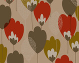 Scandinavian Woods OXFORD - Tulip Floral Tan from Cosmo Fabric