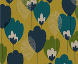 Scandinavian Woods OXFORD - Tulip Floral Yellow Green Blue from Cosmo Fabric