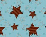 Jungle Animals - Turquoise Stars  from David Textiles