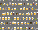 Beer and Hot Spring - Beers Grey from Cosmo Fabric
