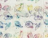Bali Hawaii Batiks - Sea Shells Cream from Benartex Fabrics