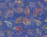 Bali Hawaii Batiks - Sea Shells Royal Blue Violet from Benartex Fabrics