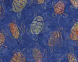 Bali Hawaii Batiks - Turtles Violet Royal Blue from Benartex Fabrics