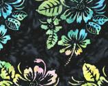 Bali Hawaii Batiks - Hibiscus Floral Midnight from Benartex Fabrics