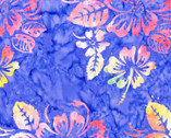 Bali Hawaii Batiks - Hibiscus Floral Violet from Benartex Fabrics