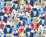 Kid's Drawing OXFORD - Dogs from Kokka Fabric
