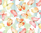 Patricia - Butterflies Soft Multi from In The Beginning Fabric