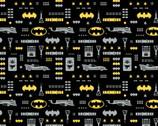 Young DC - Batman Jr Batman Icons Black from Camelot Fabrics
