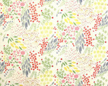 Watercolor Florets - Meadow Floral Cream from Cosmo Fabric