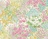 Nostalgic Garden - Floral Meadow Pale Yellow Pink from EE Schenck Fabric
