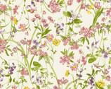 Nostalgic Garden - Wildflower Toss Yellow Pink from EE Schenck Fabric