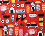 Yukata Loa - Sushi Red from Kokka Fabric