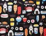 Yukata Loa - Sushi Black from Kokka Fabric
