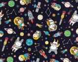 Costume Animal OXFORD - Astronaut Animals Dark from Kokka Fabric
