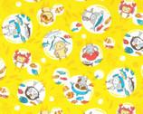 Costume Animal OXFORD - In The Sea Fish Yellow from Kokka Fabric