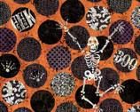 Halloween Skeleton Dot Skeleton from Springs Creative Fabric