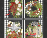 Christmas Gingham Pillow PANEL by Nicole Tamarin from Springs Creative Fabric