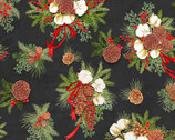 Christmas Holiday Pinecones by Nicole Tamarin from Springs Creative Fabric