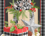 Christmas Gingham PANEL 36 Inches by Nicole Tamarin from Springs Creative Fabric