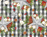 Christmas Gingham Star by Nicole Tamarin from Springs Creative Fabric
