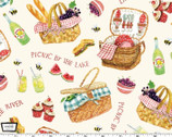 Picnic by the Lake - Lazy Days Food from Michael Miller Fabric