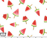 Picnic by the Lake - Watermelon Lollies White from Michael Miller Fabric