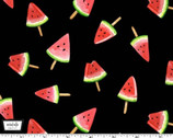 Picnic by the Lake - Watermelon Lollies Black from Michael Miller Fabric