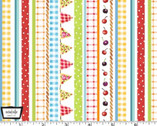 Picnic by the Lake - Gingham Stripe White from Michael Miller Fabric