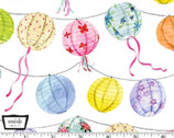 Picnic by the Lake - Paper Lanterns White from Michael Miller Fabric