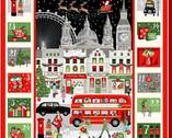 London Christmas - London Advent Calendar from Makower UK  Fabric