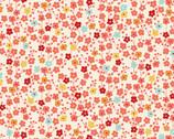 Michiko - Small Blossom Cream from Makower UK  Fabric