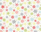 Joy - Snowflakes White from Makower UK  Fabric