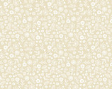 Essentials - Doodle Ditzy Floral Pearl Tan from Makower UK  Fabric