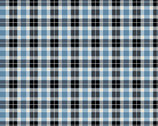 Woodland Winter - Classic Plaid Sky Blue by Two Can Art from Andover Fabrics