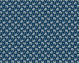 Annabella - Flowers and Beans Blue from Andover Fabrics