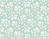 Annabella - Damask Floral Teal from Andover Fabrics