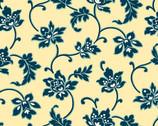 Annabella - Trumpet Vine Yellow from Andover Fabrics