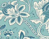 Annabella - Main Floral Teal from Andover Fabrics