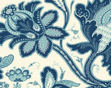 Annabella - Main Floral Blue from Andover Fabrics