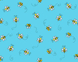 Bumble Bee - Bees Teal from Andover Fabrics