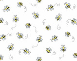 Bumble Bee - Bees White from Andover Fabrics