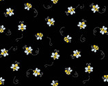 Bumble Bee - Bees Black from Andover Fabrics