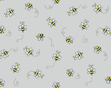 Bumble Bee - Bees Light Grey from Andover Fabrics