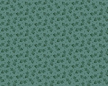 Annes English Scrapbox - Ziggy Leaf Teal by Di Ford-Hall from Andover Fabrics